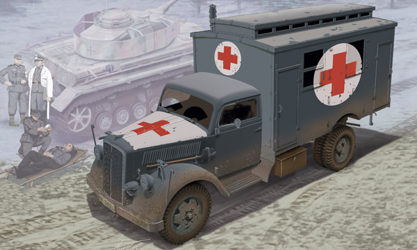 militaire Dragon Camion Ambulance Allemand