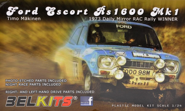 voiture Belkits Ford Escort RS1600 RAC 1973