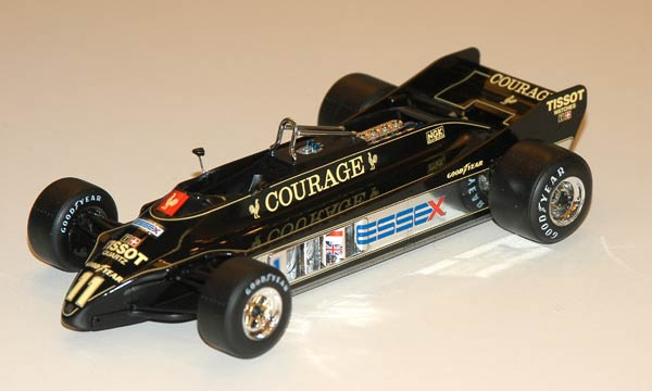 voiture Ebbro Lotus 88B 1981 Courage