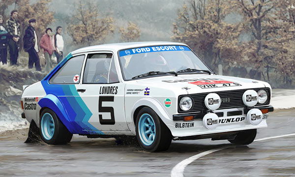 voiture Italeri Ford Escort RS1800 Mk.II Rally