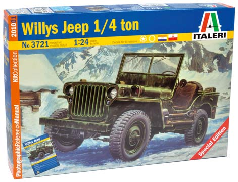 maquette jeep willys 1 24. Black Bedroom Furniture Sets. Home Design Ideas