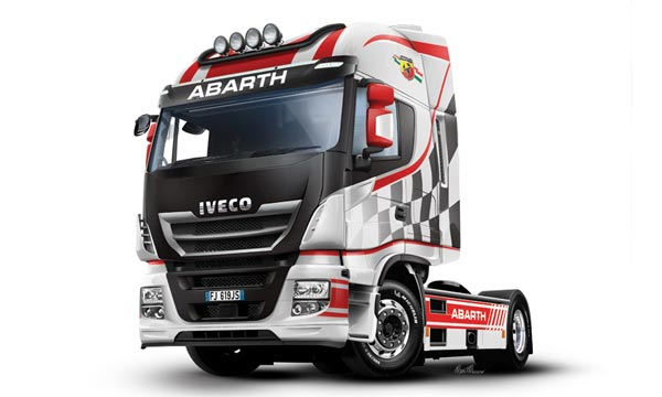 "camion Italeri IVECO E5 Hiway ""Abarth"""